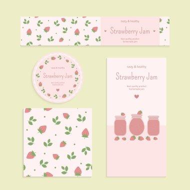 Homemade strawberry jam set