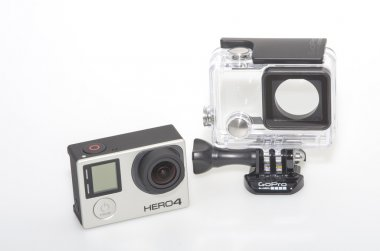 GoPro 4 and submersible housing