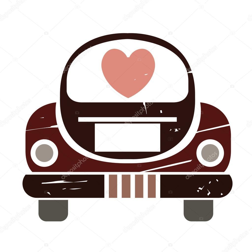just married car — stock vector © loopang 107189130