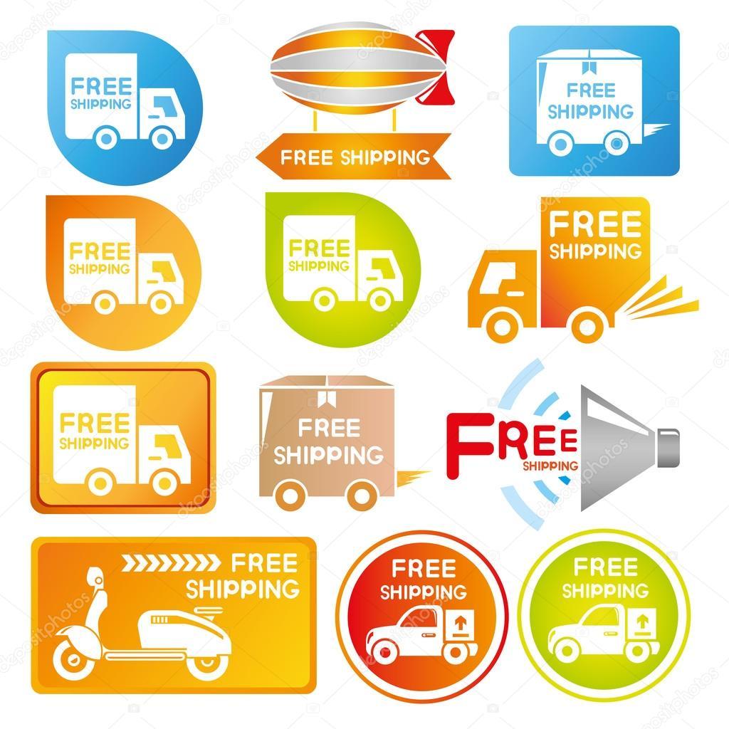 Free shipping label — Stock Vector © loopang #107678578