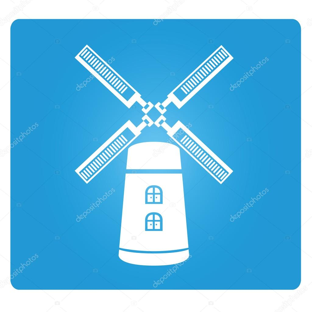 Wind Turbine Symbol Stock Vector Loopang 107678950