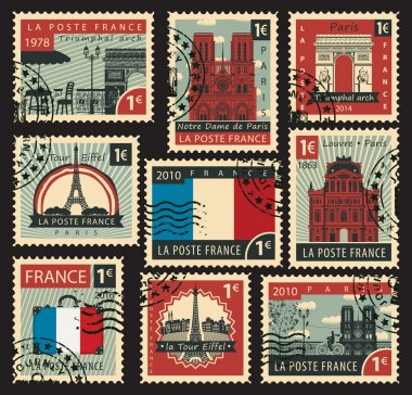 stamps on the theme of France