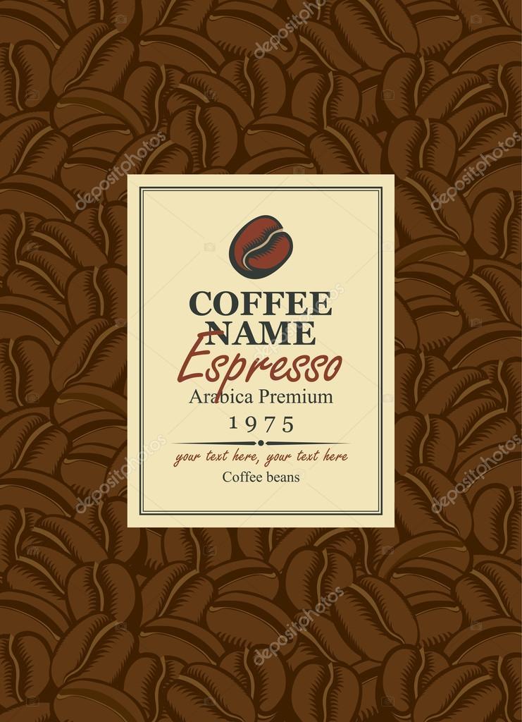 Dise o etiquetas para caf vector de stock paseven for Diseno de etiquetas
