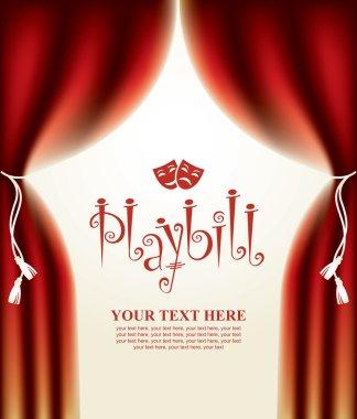 playbill with scenic scenes