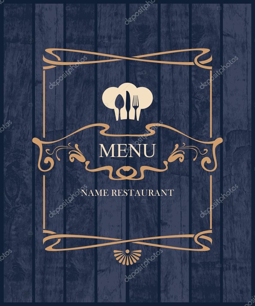 Cubierta para Carta de restaurante — Archivo Imágenes Vectoriales ...