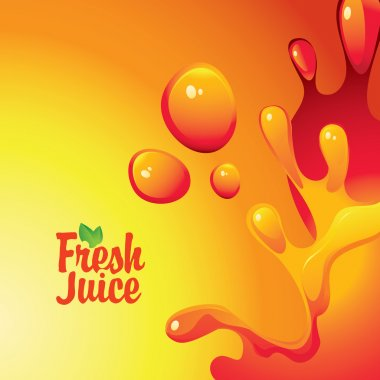 fresh juices and drops and splashes