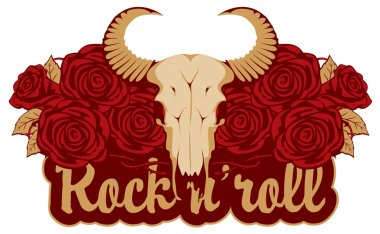 skull sheep and rock and roll