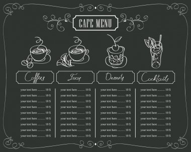 prices for coffee and dessert