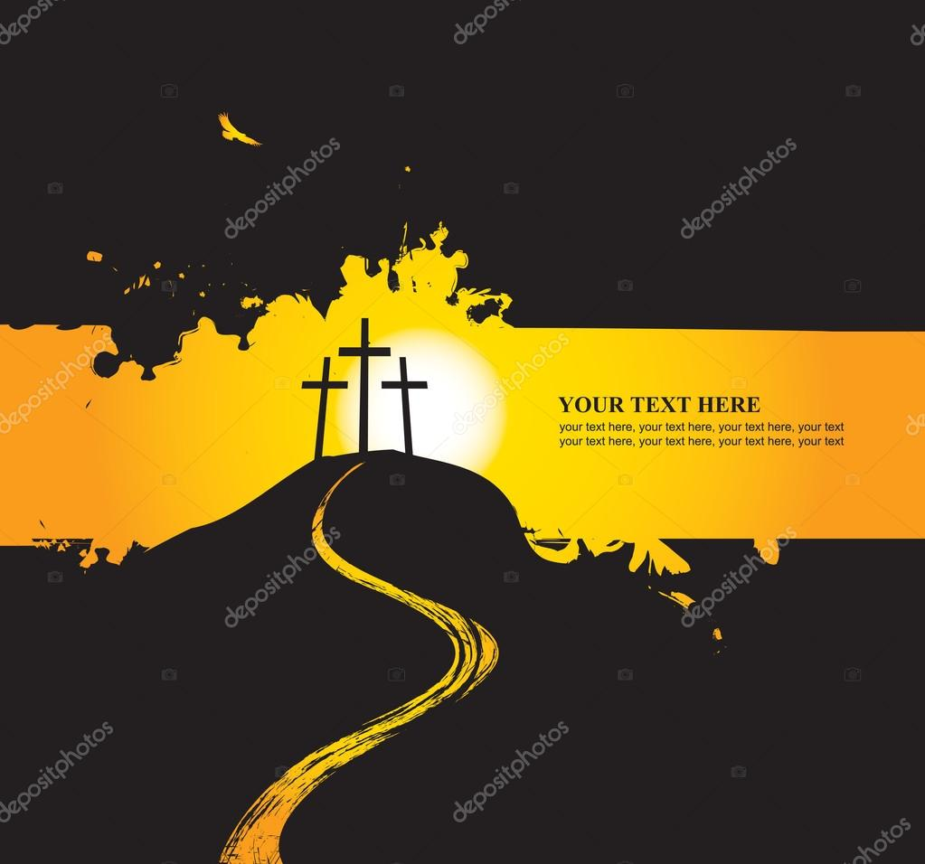 Christian themes with three crosses