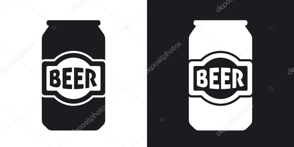 beer can icons stock vector realvector 107042342 rh depositphotos com beer can label vector beer can silhouette vector
