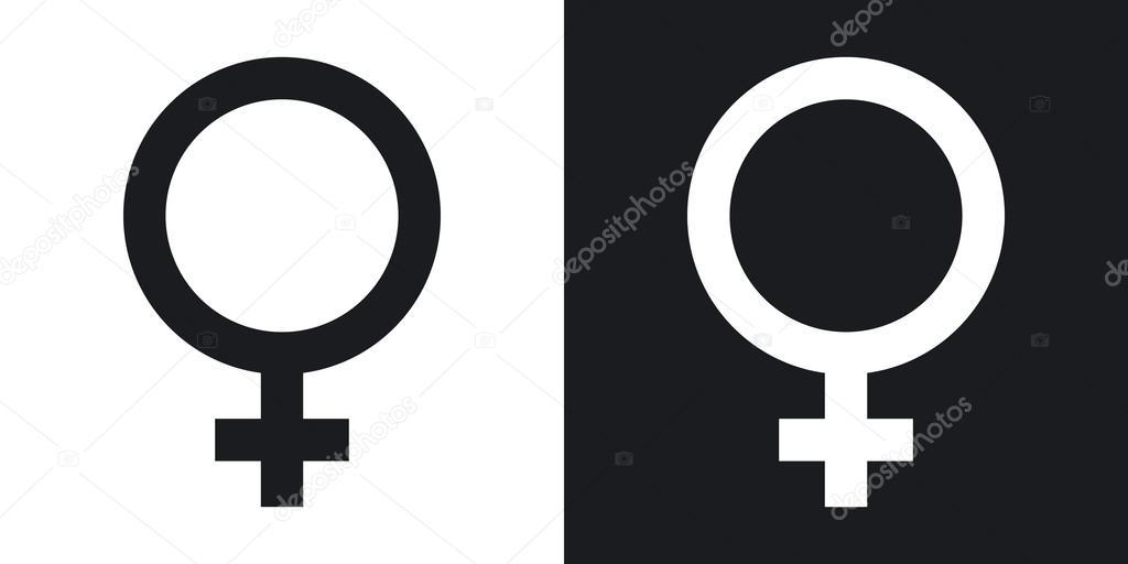 Svart med vit kön