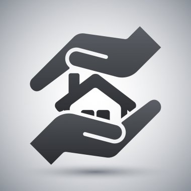 Vector protect house icon stock vector