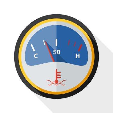 Motor temperature gauge icon clip art vector