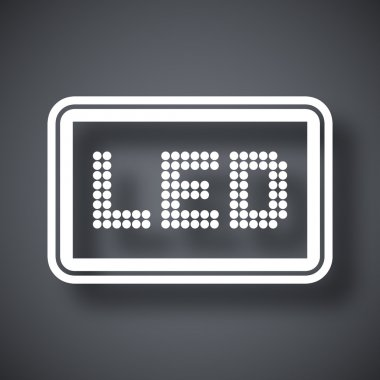 LED screen icon