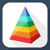 Photo Color layered pyramid