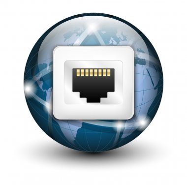 Global connection icon.