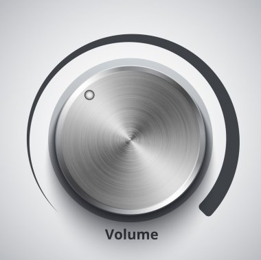 Vector volume knob with metal texture