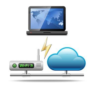 networking icon illustration