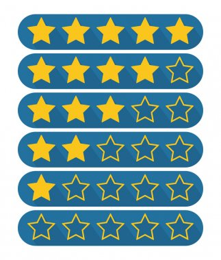 Rating stars symbol