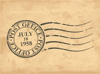 Grungy postal stamp, vector illustration clip art vector