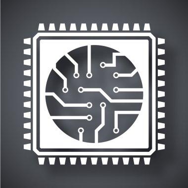 processor, chip icon