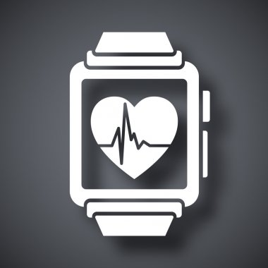 smart watch with health app icon