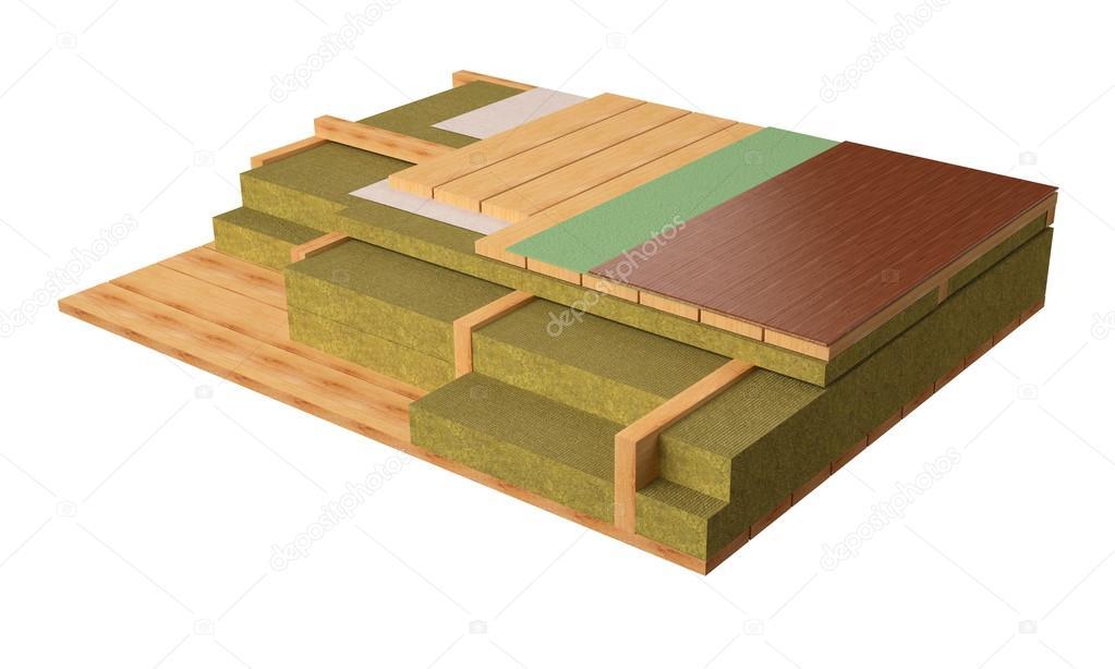 3D Computer generierte Bild der Holzrahmen Haus Etagen — Stockfoto ...