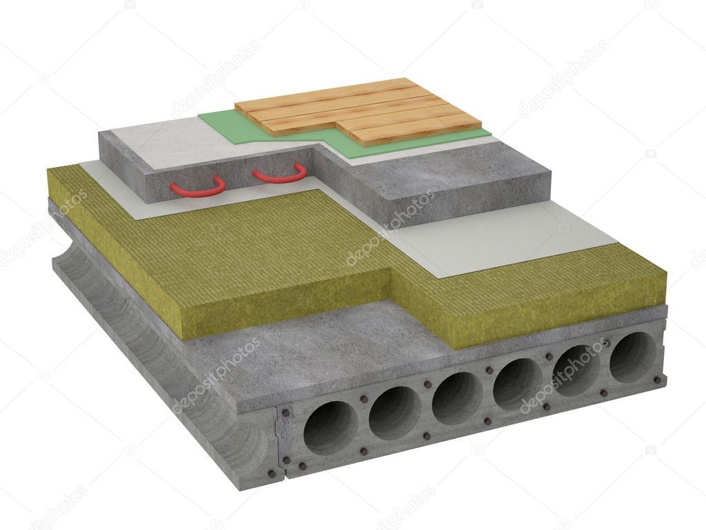 Beton Fußboden Dämmen ~ Betonboden isolierung u stockfoto tvildanov