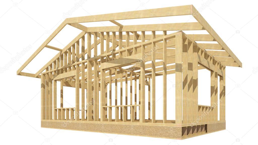 Casa estructura de madera — Foto de stock © tvildanov #83673050