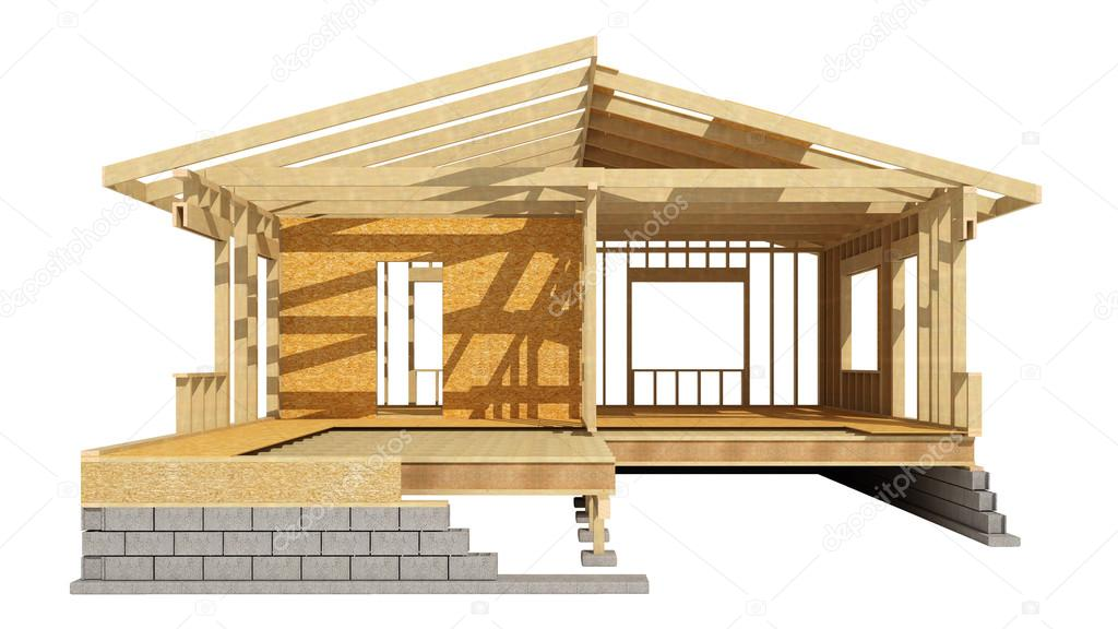 Casa estructura de madera — Foto de stock © tvildanov #83855690