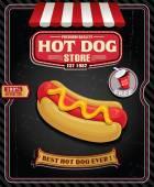 návrh plakátu Vintage hot dog