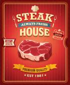Fényképek Vintage steak poszter design