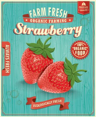 Vintage farm fresh strawberry design
