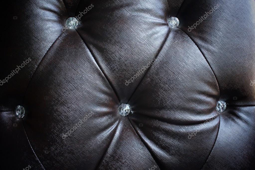 Texture Of Vintage Black Leather Sofa U2014 Stock Photo
