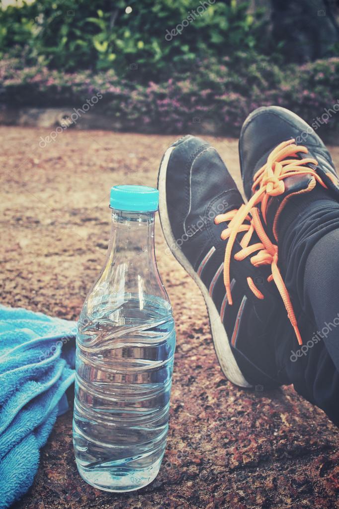 Sport Selfie Boire Chaussures — À Photographie L'eau De BEq1Ew