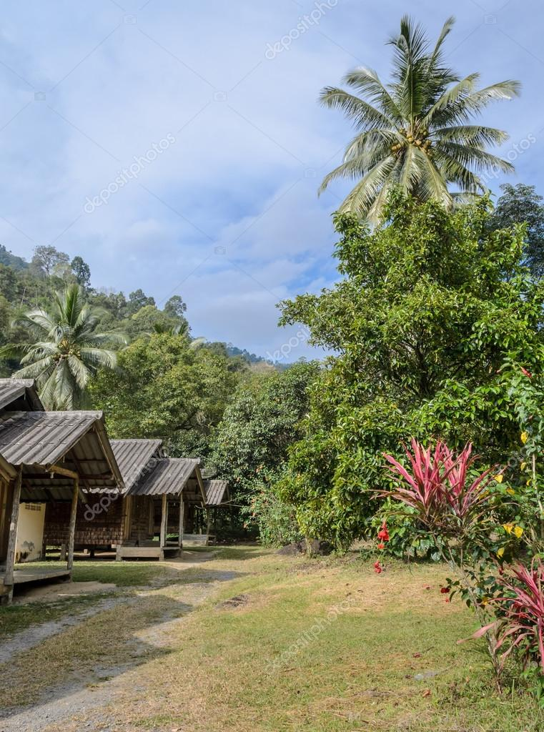 Thai Countryside Hut With The Garden U2014 Stock Photo
