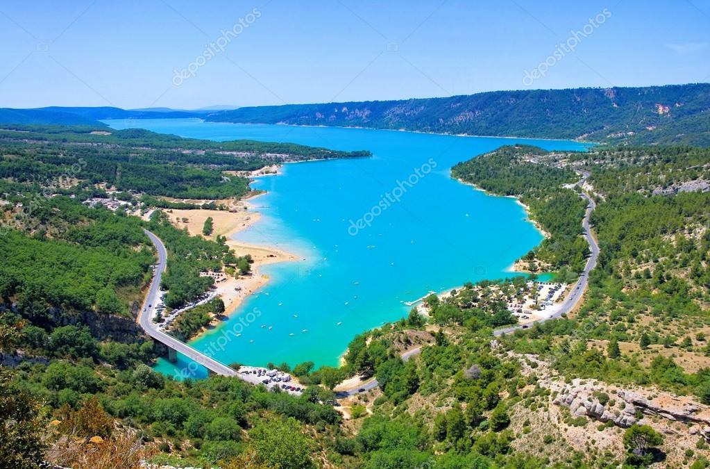 Lac de sainte croix foto stock kassandra2 61780015 - Office du tourisme lac de sainte croix ...