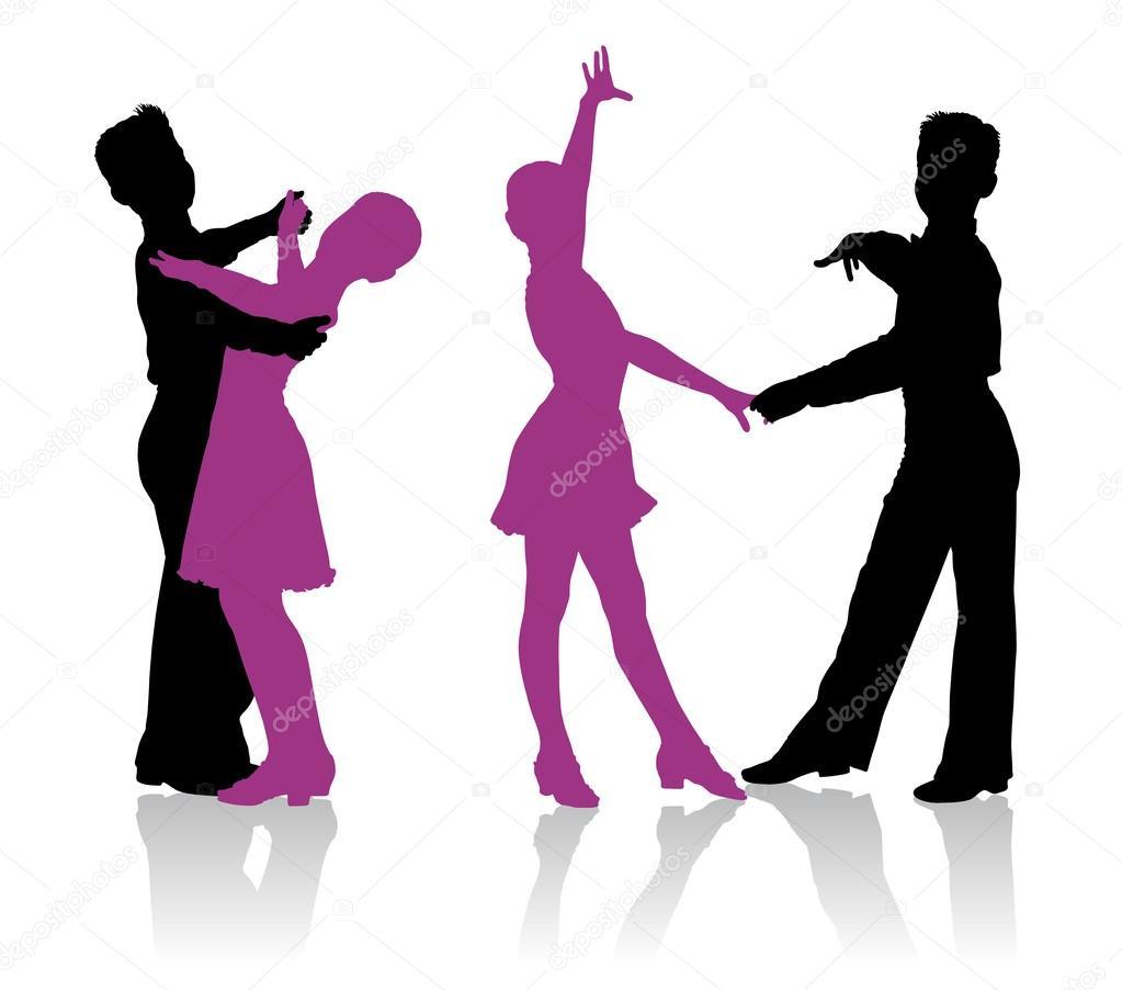 Танцоры рисунок