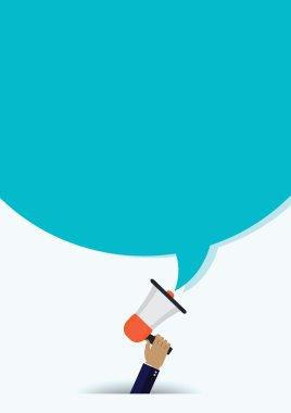Mobile business concept illustration megaphone.