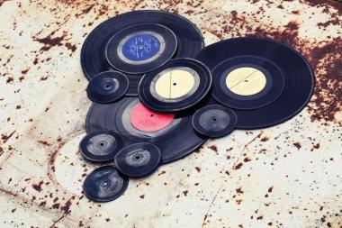 Old vinyl records