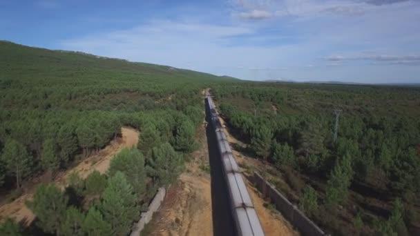 Pohled shora na vlaku v přírodě