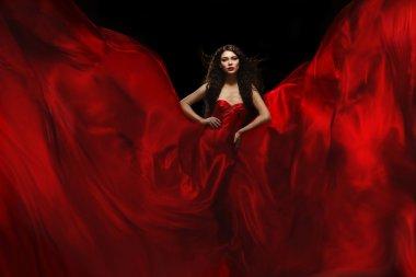 Beautiful woman in fabric