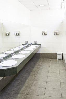 Sinks in a public bathroom