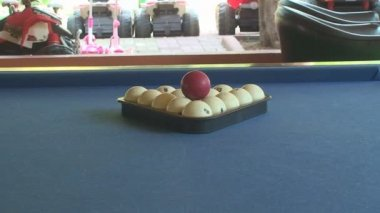 Slider Shot Of Table With Pizza Close Up Stock Video - Pool table sliders