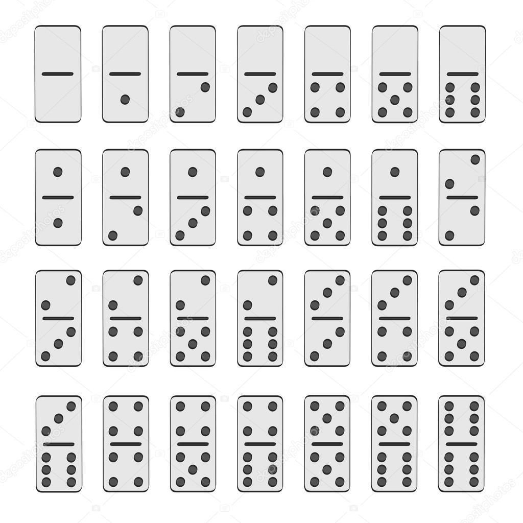Illustration de dessin anim 2d du jeu de domino - Coloriage domino ...