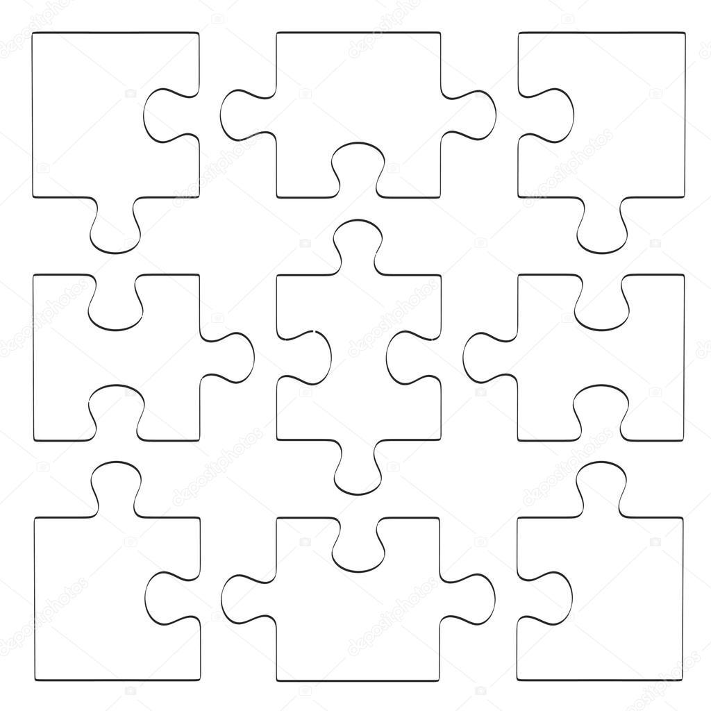 Ilustra o de desenho animado 2d do quebra cabe a stock - Puzzle dessin ...