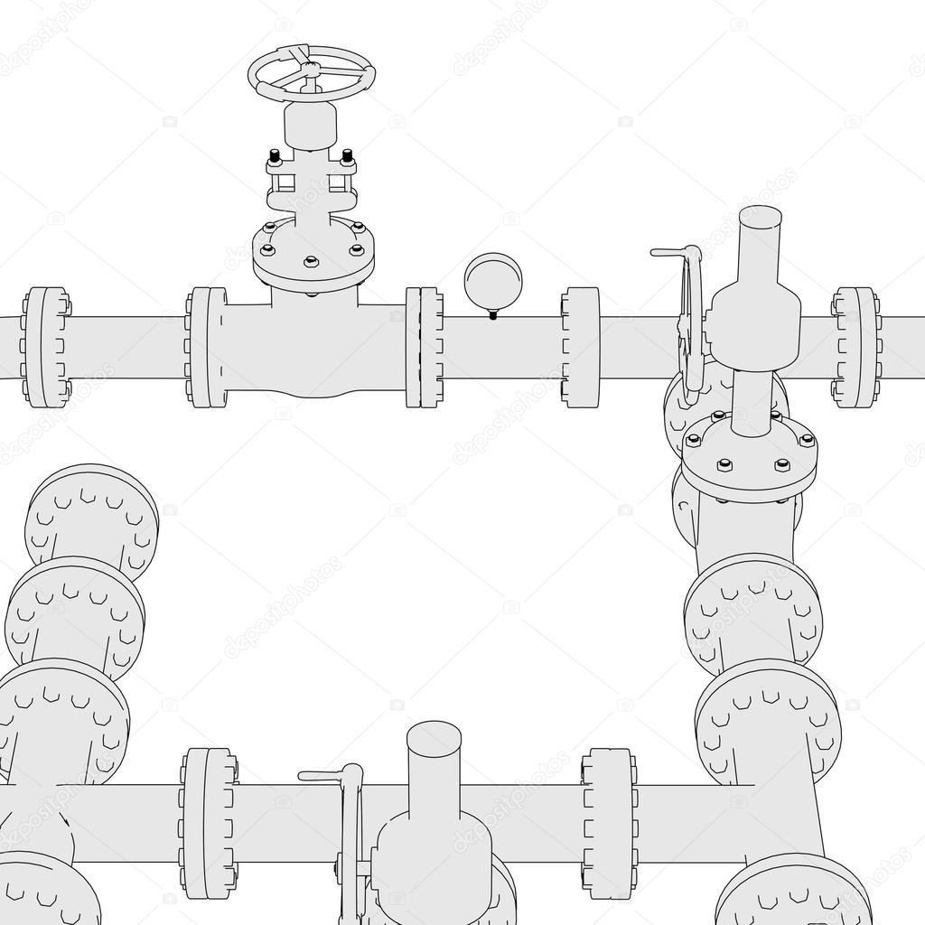 Industrial pipes — Stock Photo © 3drenderings #74439271
