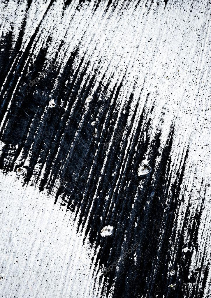 tache noire sur le mur blanc — Photographie Ahojdoma © #109176588