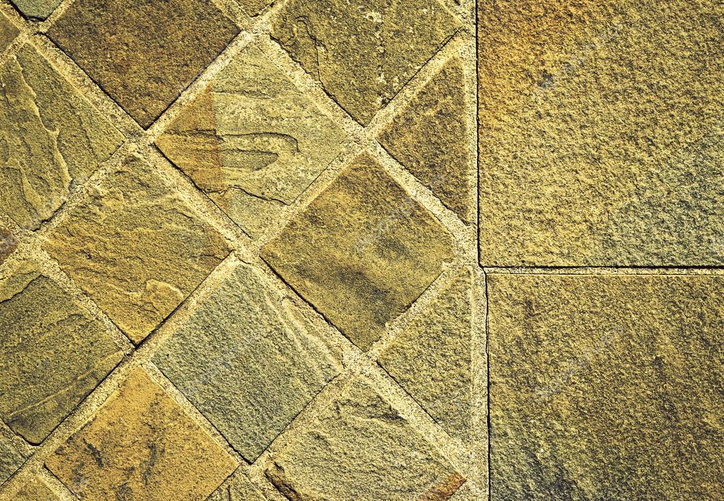 Quadratischen Stein Sandstein Fliesen Pawement Stockfoto