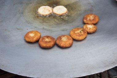 Hot Kachoris Being Made